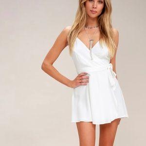 CAMDEN WHITE WRAP SKORT DRESS